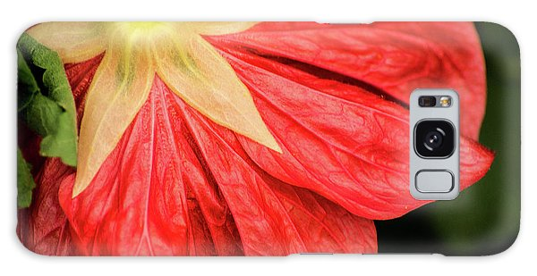 Back Of Red Flower Galaxy Case