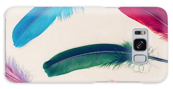 Peacocks Galaxy Case - Background Feathers. Fashion Photo by Evgeniya Porechenskaya