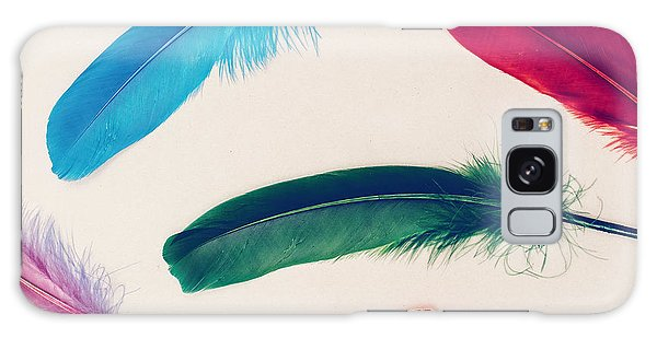 Decorative Galaxy Case - Background Feathers. Fashion Photo by Evgeniya Porechenskaya