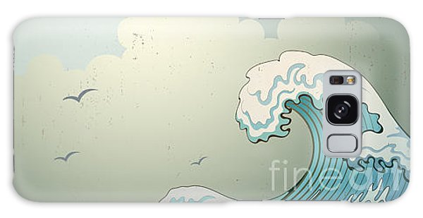Tide Galaxy Case - Background With Waves by Il67