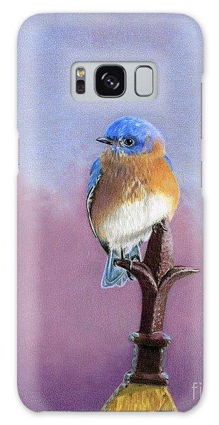 Song Bird Galaxy Case - Backyard Bluebird by Sarah Batalka