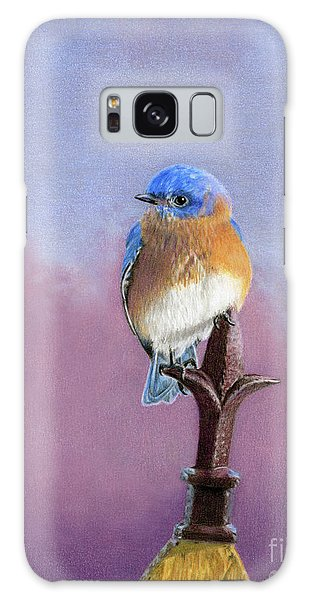 Bluebird Galaxy Case - Backyard Bluebird by Sarah Batalka