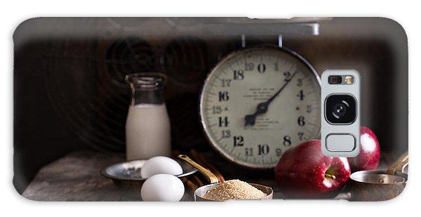 Tasty Galaxy Case - Baking Ingredients On Rustic Table by Elena Veselova