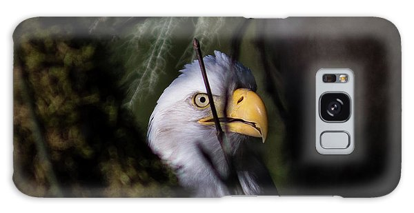Bald Eagle Behind Tree Galaxy Case