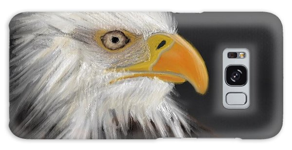 Galaxy Case featuring the pastel Bald Eagle by Fe Jones