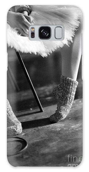 Ballerina Galaxy Case - Ballerina Getting Ready To The by Anna Jurkovska