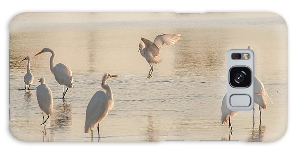 Ballet Of The Egrets Galaxy Case