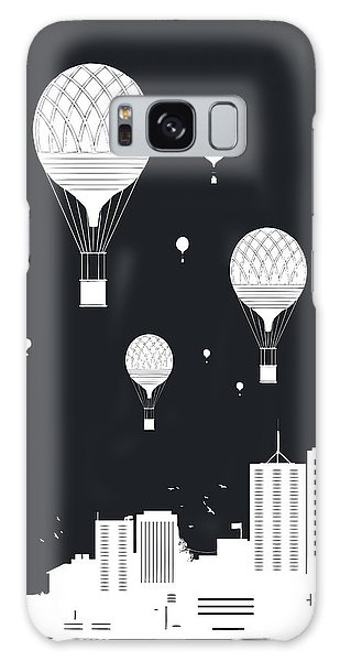 Celebration Galaxy Case - Balloons And The City by Balazs Solti