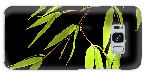 Galaxy Case featuring the photograph Bamboo Leaves 0580a by Mark Shoolery