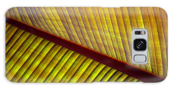 Galaxy Case featuring the photograph Banana Leaf 8603 by Mark Shoolery