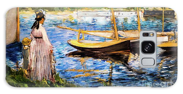 Banks Of The Seine At Argenteuil Galaxy Case