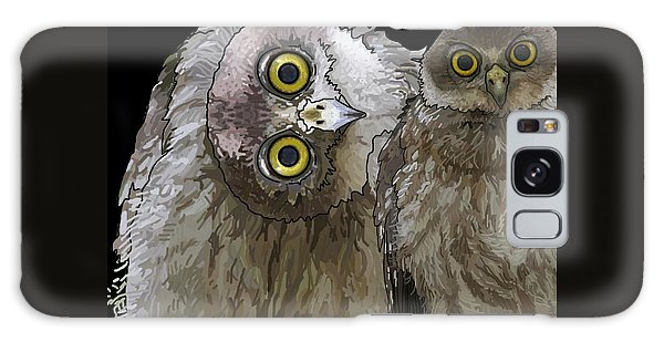 Barking Owls 2 Galaxy Case