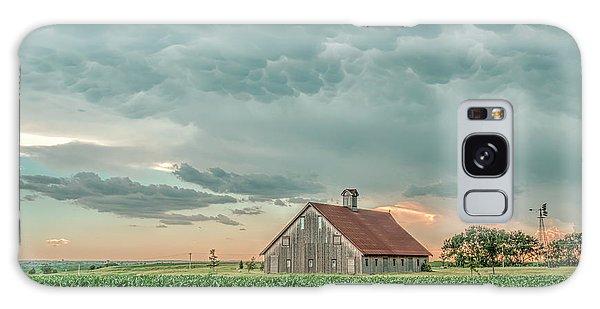 Barn In Sunset Galaxy Case
