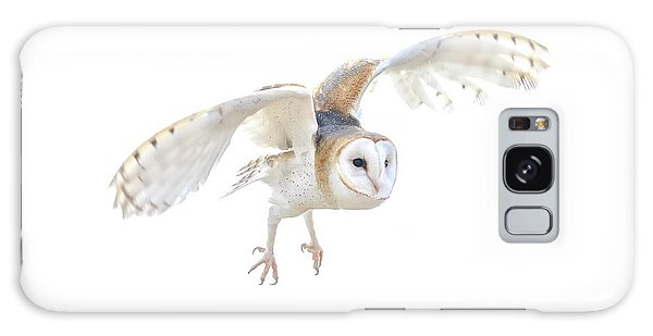 Barn Owl In Flight Galaxy Case