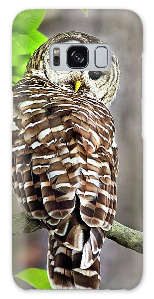 Galaxy Case featuring the photograph Barred Owl by Christina Rollo