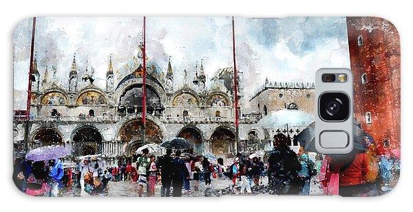 Basilica Of Saint Mark In Venice, Italy - Watercolor Effect Galaxy Case