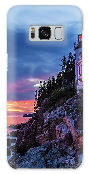 Bass Harbor Head Lighthouse At Twilight Galaxy Case