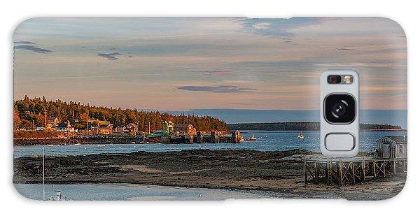 Bass Harbor Sunset Galaxy Case