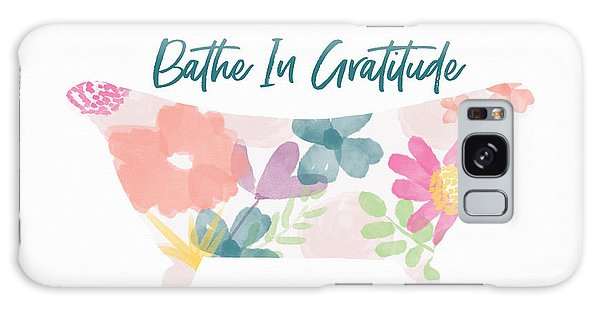 Galaxy Case featuring the mixed media Bathe In Gratitude- Art By Linda Woods by Linda Woods