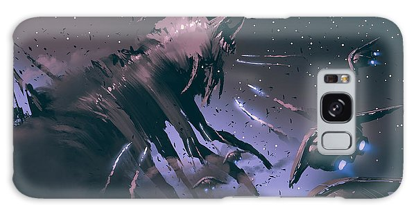 Outer Space Galaxy Case - Battle Between Spaceships And Insect by Tithi Luadthong