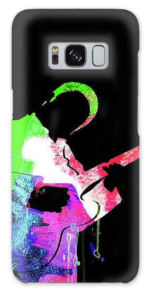 B B King Galaxy Case - Bb King Watercolor II by Naxart Studio