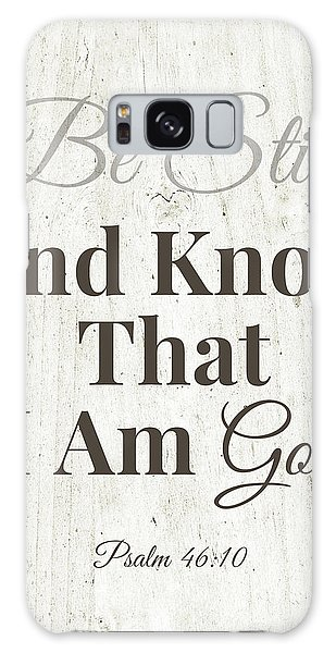 Galaxy Case featuring the mixed media Be Still And Know That I Am God- Art By Linda Woods by Linda Woods