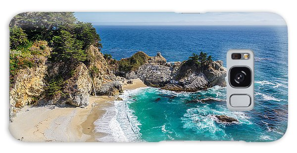 Monterey Galaxy Case - Beach And Falls, Julia Pfeiffer Beach by Lucky-photographer