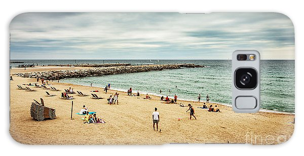 Scenery Galaxy Case - Beach And Sea During Cloudy Dark Summer by Pinkyone