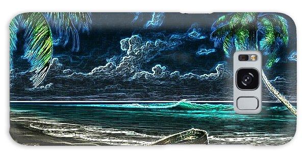 Beach At Night Galaxy Case