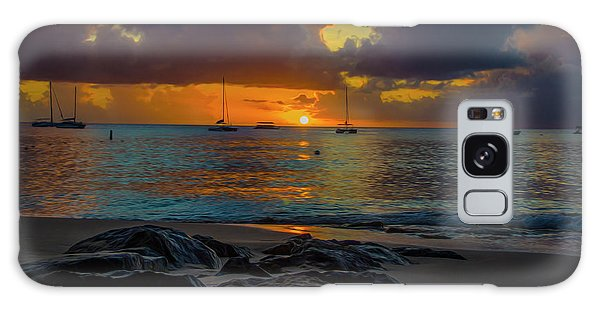 Beach At Sunset Galaxy Case