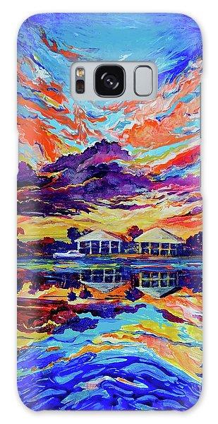 Beach House Reflections Fluid Acrylic Galaxy Case