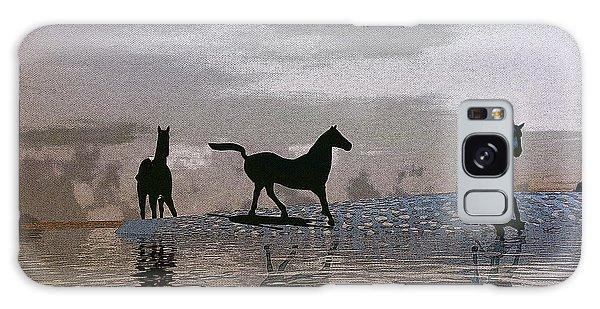 Beach Of Wild Horses Galaxy Case