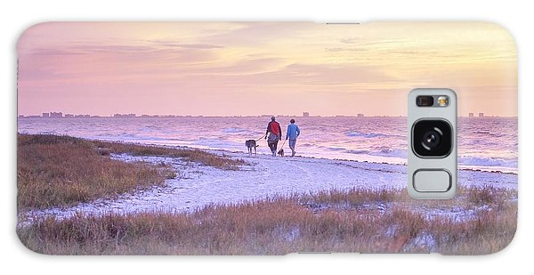 Sunrise Stroll On The Beach Galaxy Case
