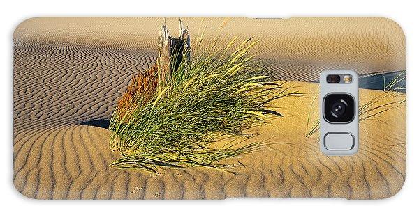 Beachgrass And Ripples Galaxy Case