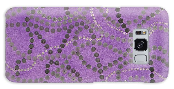 Beads And Pearls - Gray Galaxy Case