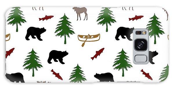 Cottage Galaxy Case - Bear Moose Pattern by Christina Rollo