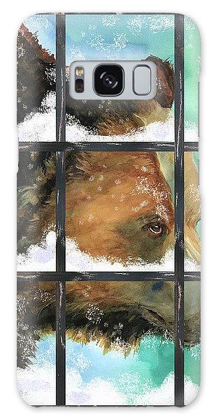 Bear Outside My Window Galaxy Case