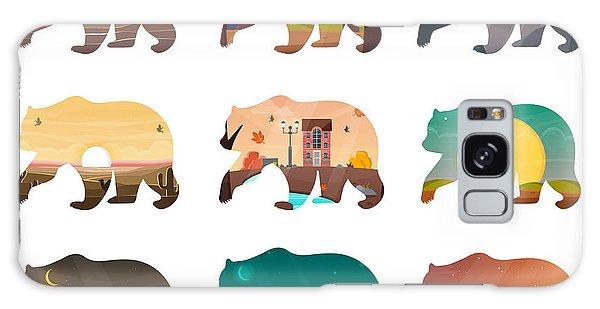 Tabby Galaxy Case - Bear Set. Nature Landscape Inside by Ya blue ko