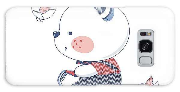 Summertime Galaxy Case - Bearhand Drawn Vector Illustration Of by Eteri Davinski