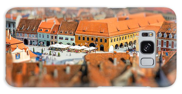 Cultural Center Galaxy Case - Beautiful Brasov Cityscape Top View In by Rosshelen