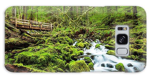 Ecology Galaxy Case - Beautiful Cascade Waterfall In Sol Duc by Kan khampanya