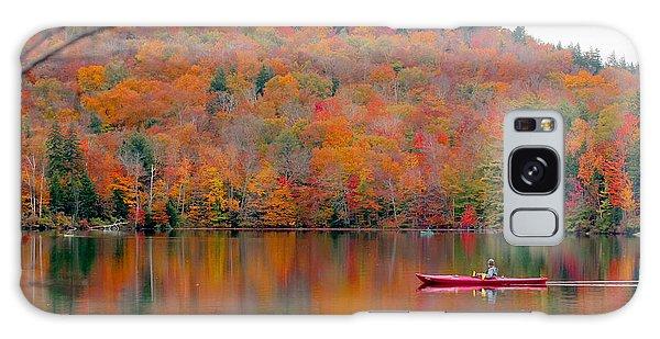 Cottage Galaxy Case - Beautiful Fall Landscape With  Lake And by Anastasia Tveretinova