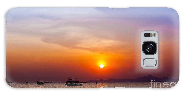 Bright Colors Galaxy Case - Beautiful Landscape. Sunset On The by Ewa Studio