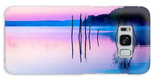 Dawn Galaxy Case - Beautiful Landscape With A Lake And by Jozef Klopacka