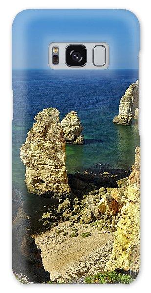 Beautiful Marinha Beach From The Cliffs Galaxy Case