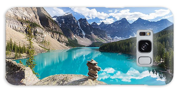 Moraine Lake Galaxy Case - Beautiful Moraine Lake In Banff by Galyna Andrushko