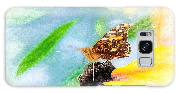 Beautiful Painted Lady Butterfly Galaxy Case