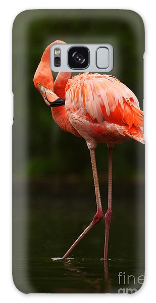 Great Lakes Galaxy Case - Beautiful Pink Big Bird Caribbean by Ondrej Prosicky