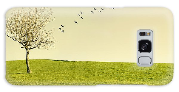 Scenery Galaxy Case - Beautiful Poetic Landscape With A Tree by Valentina Photos