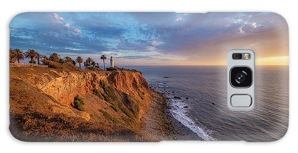 Beautiful Point Vicente Lighthouse At Sunset Galaxy Case